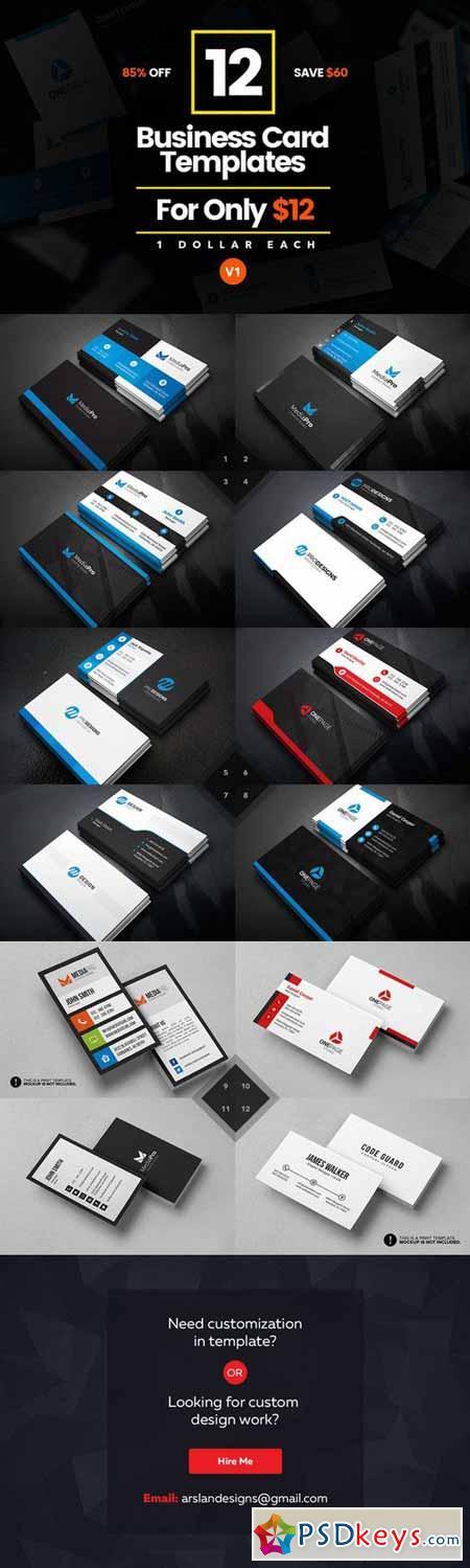 12 Business Card Bundle v1 588398