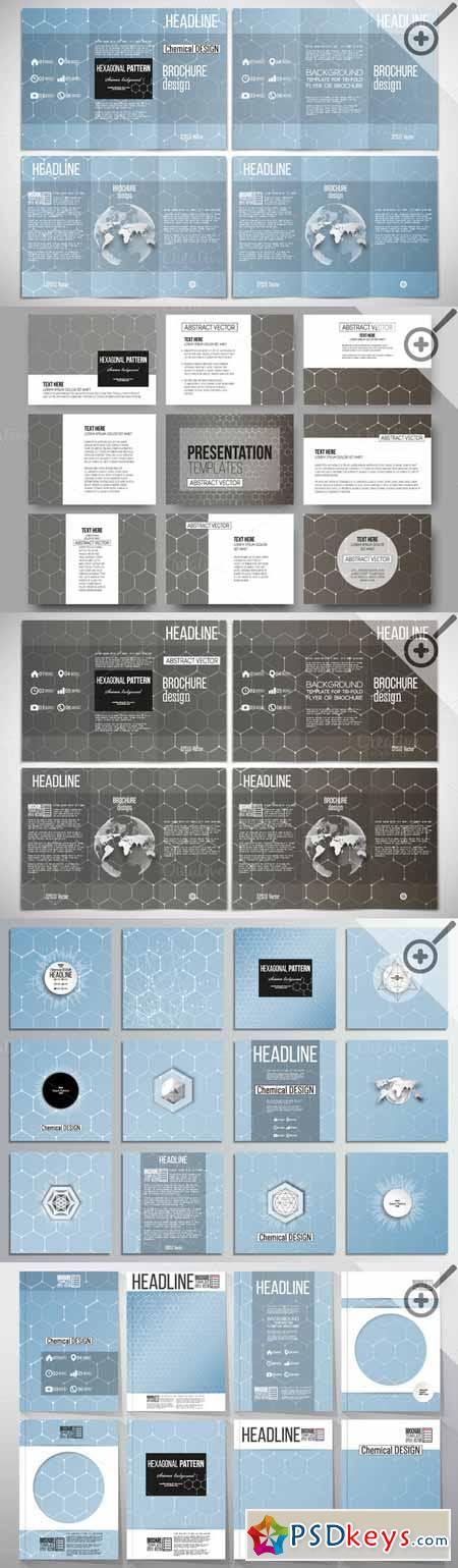 Hexagonal design chemistry templates 600977