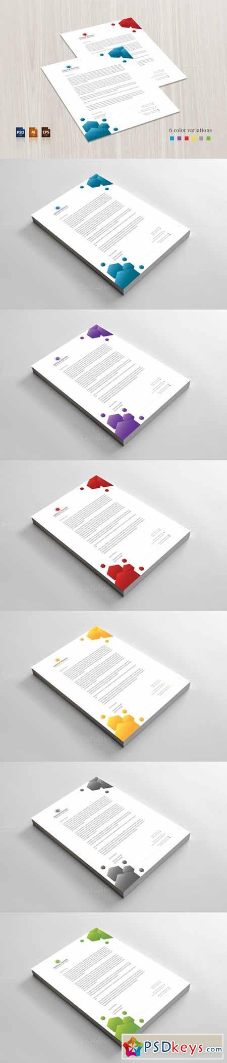 Business Letterhead Vector Abstract Creative Concept Vector