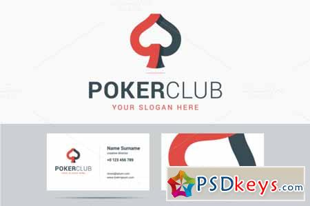 Poker club logo and business card 586798