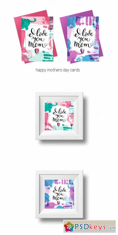 Happy Mothers Day Cards Vector Set 581667