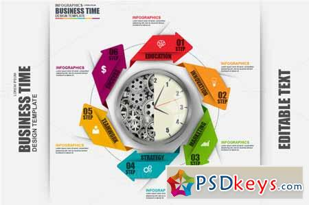 Business Time Infographics 586843