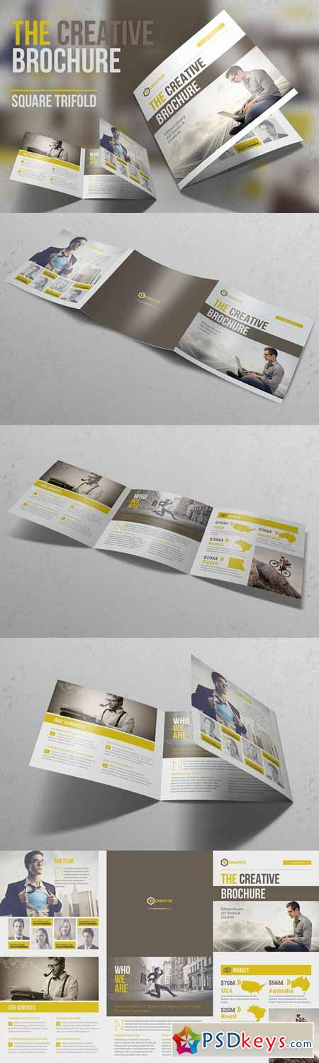 The Creative Brochure - Square 3fold 589500