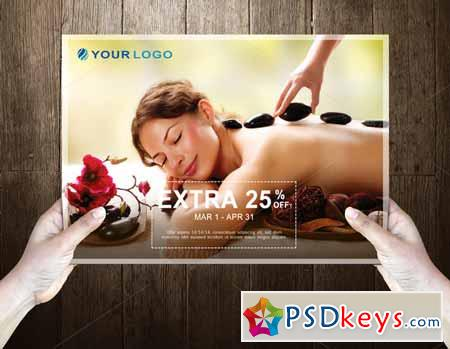RoyalSpa Post Card Template 589716
