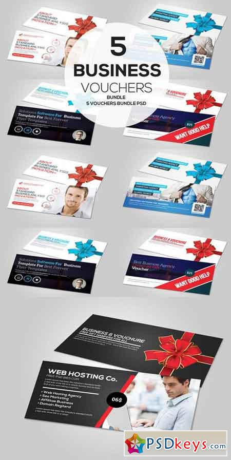 5 Business Gift Card Vouchers Bundle Free