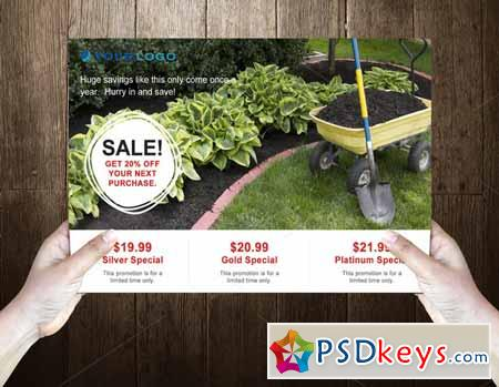 Gardening Post Card Template 589723