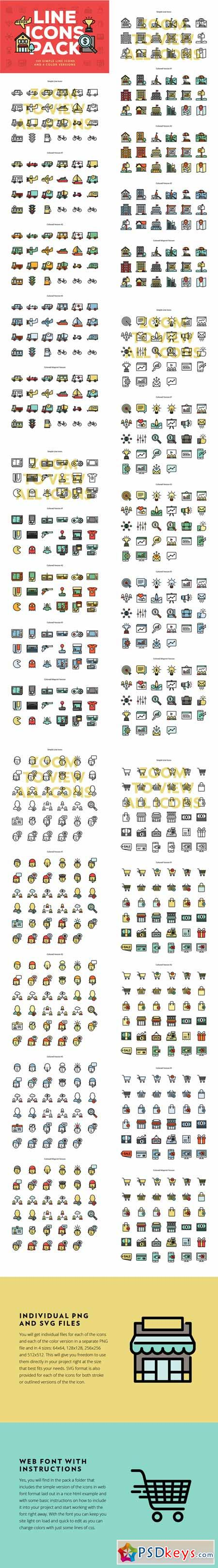 Line Icons Pack 602090