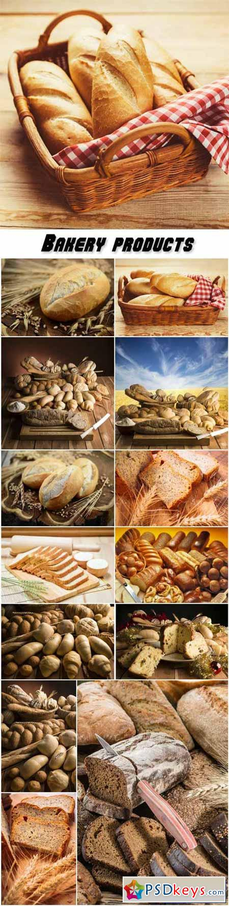 Bakery products, bread in a basket