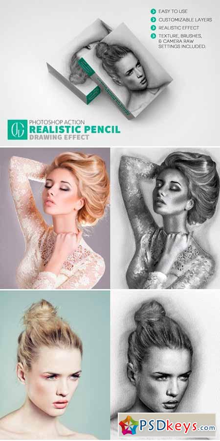 Realistic Pencil Drawing Effect 580221