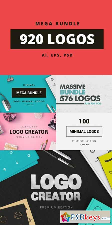 920 logos mega bundle 616162 187 free download photoshop