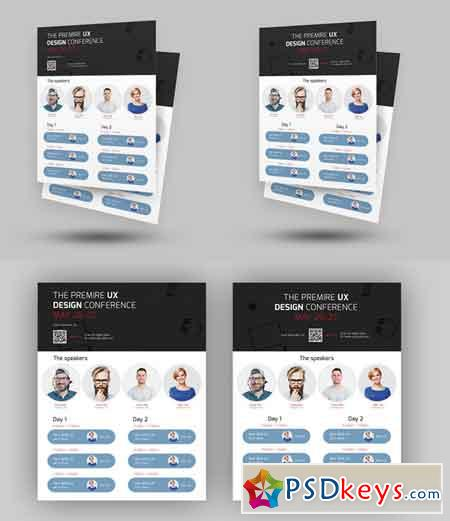 Event Conference Flyer Template   Free Download Photoshop