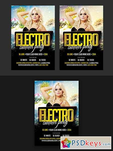 Electro Summer Party Flyer 609757
