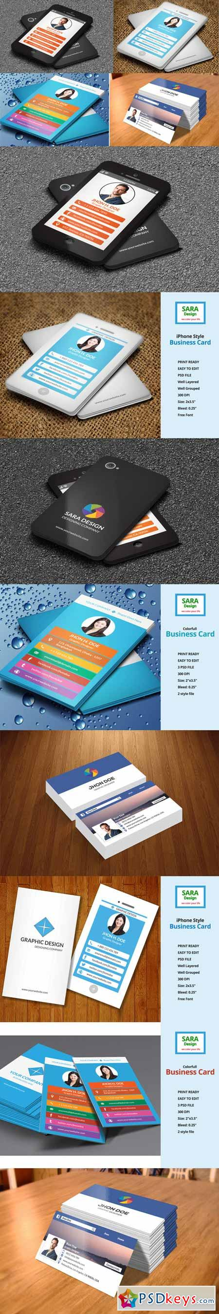 4 Business Card Bundle 611334 » Free Download Photoshop Vector Stock ...