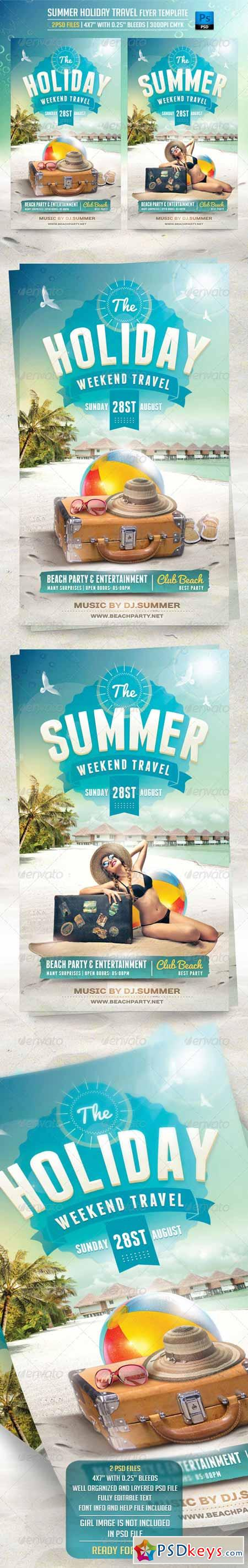 summer holiday travel flyer template  summer holiday travel flyer template 8269462
