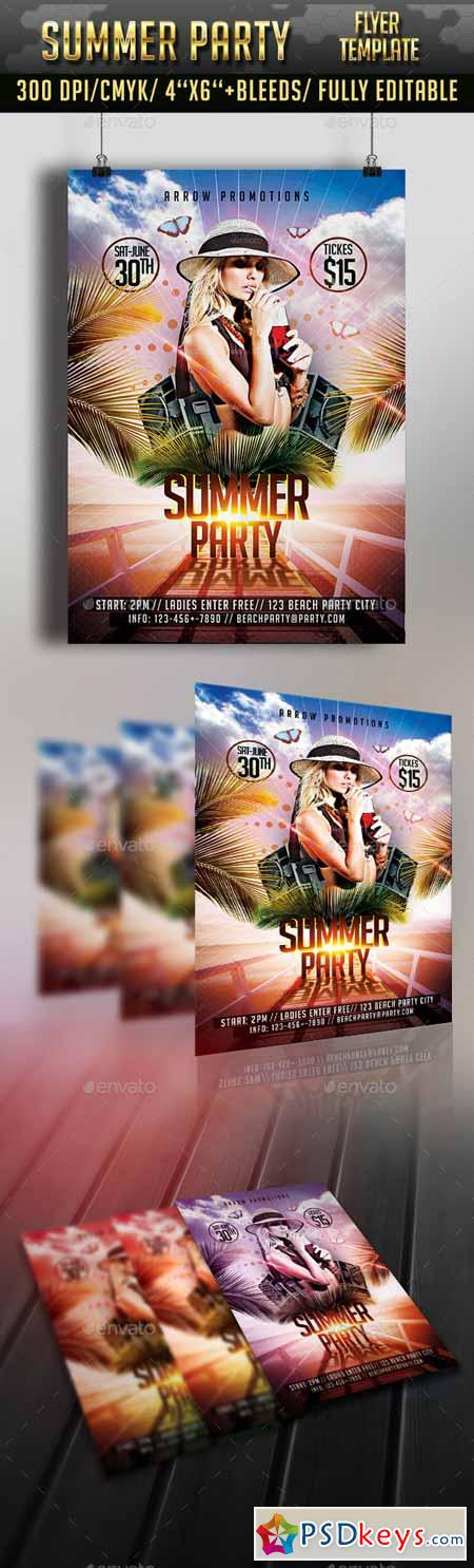 Summer Party Flyer Template 11583038 Free Download Photoshop