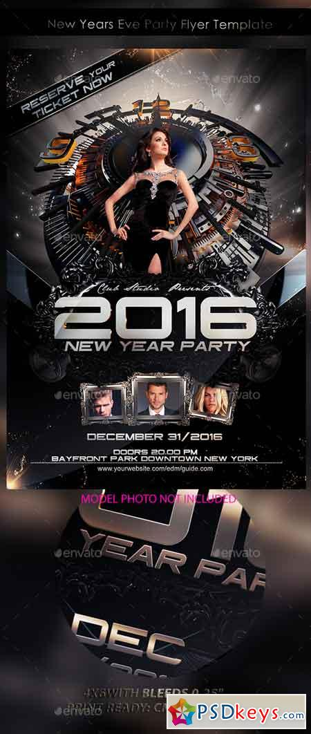 New Years Eve Party Flyer Template 13359167