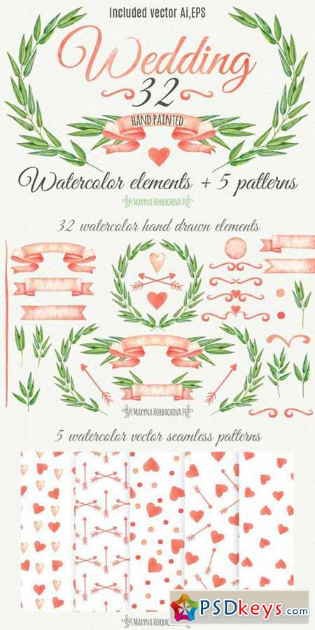 Wedding invitation elements 618662