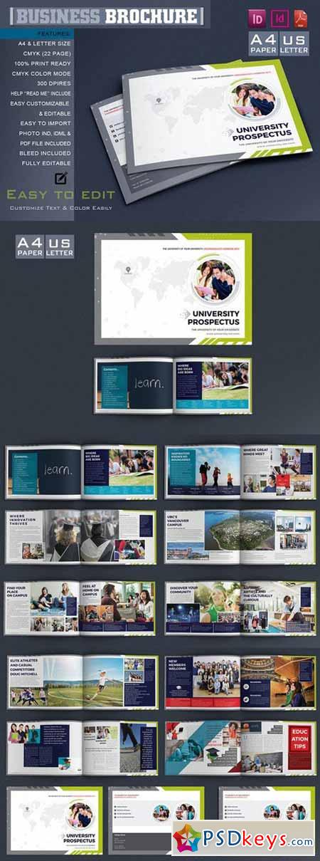College University Brochure Template Free Download University