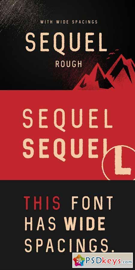Sequel Rough Sans Serif Fonts 625566