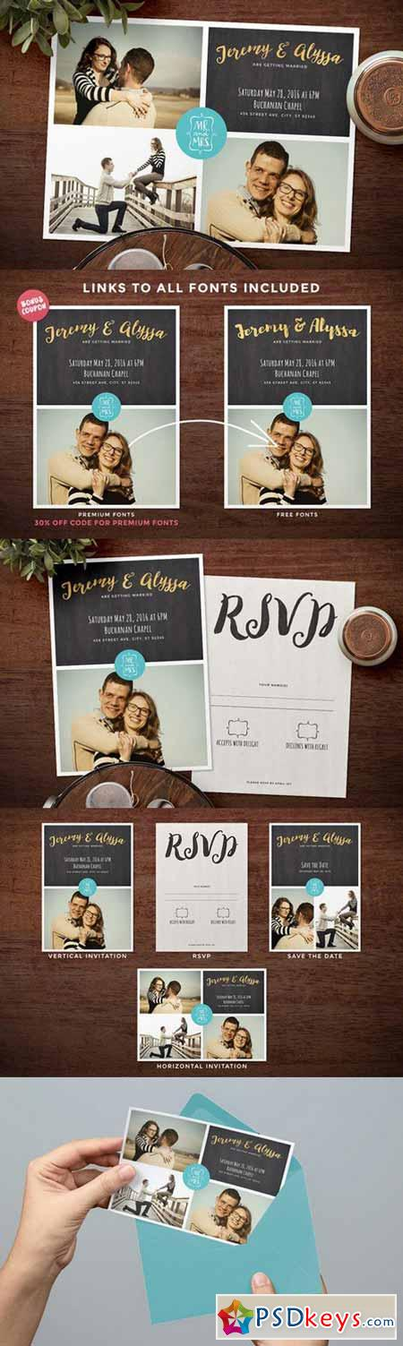 Photo Collage Wedding Invitation 627190