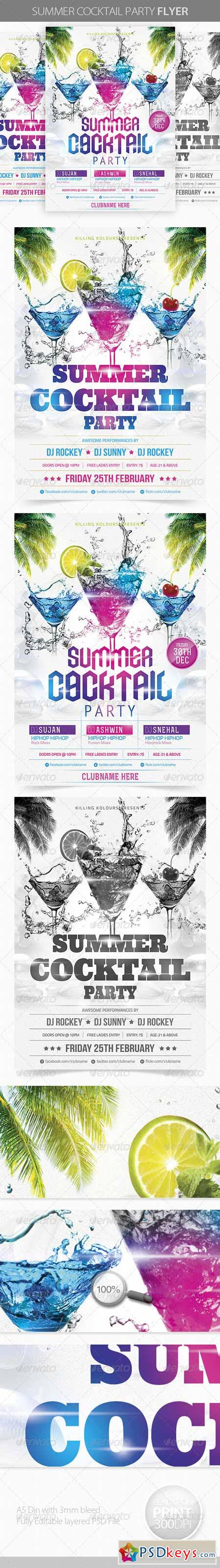 Summer Cocktail Party Flyer 4178914