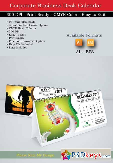 Corporate Calendar 2017 : Corporate table calendar free download