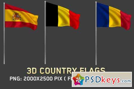 3D Country Flags 590676