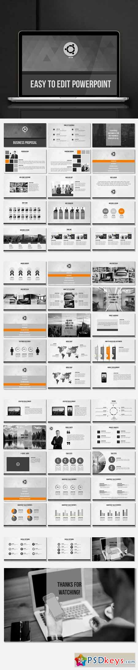Minimalistic Powerpoint Template 623518