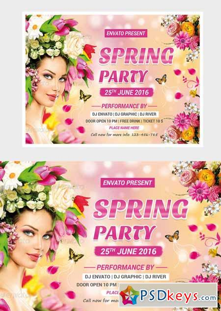 Spring Flyer Template   Free Download Photoshop Vector Stock