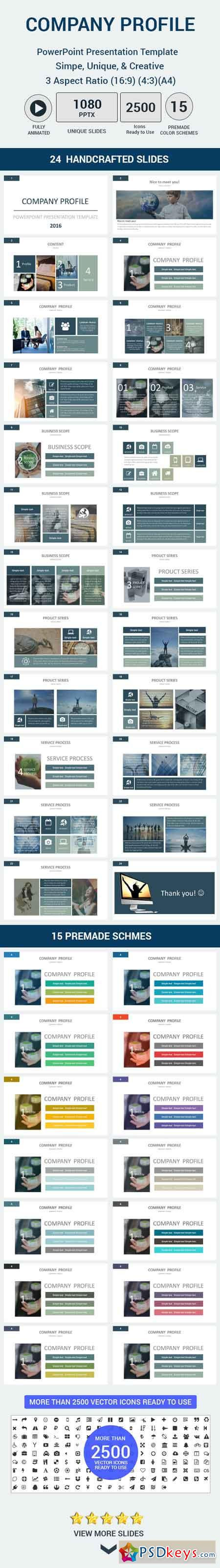 Company profile PowerPoint Presentation Template 15627807