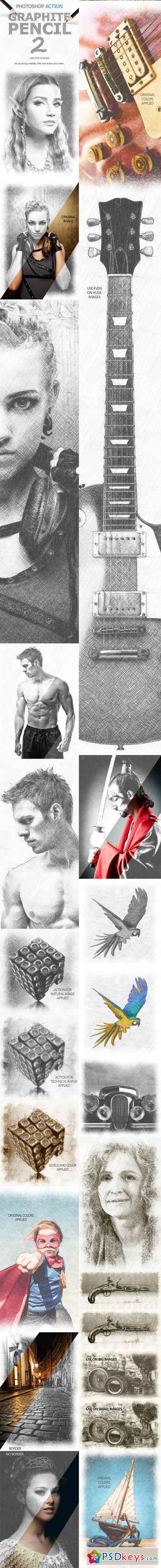 Graphite Pencil 2 Photoshop Action 15556185