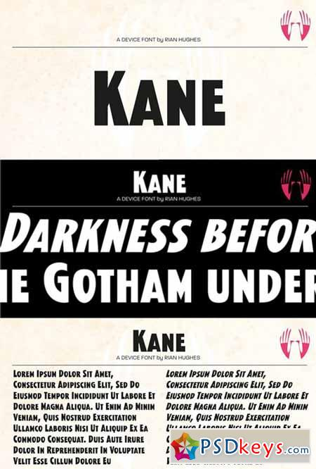 Kane Font Family $69 » Free Download Photoshop Vector Stock image