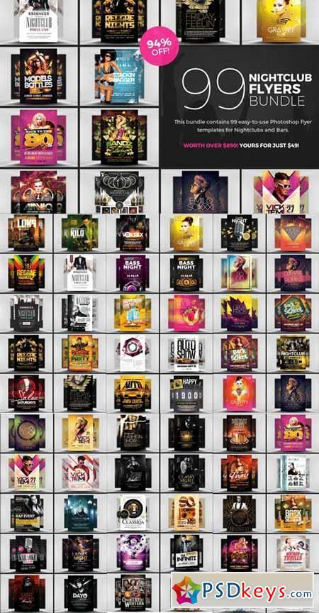 99 Nightclub Flyer Templates Bundle 626282 Free Download Photoshop