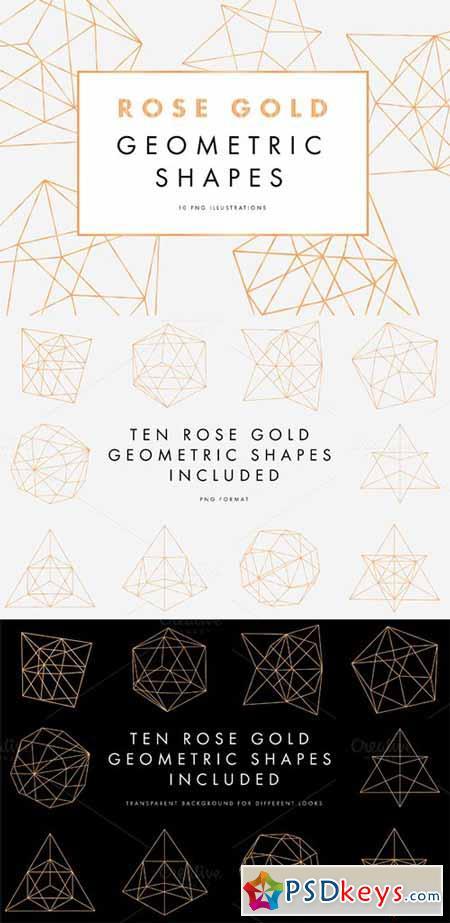 Rose Gold Geometric Pattern 614706