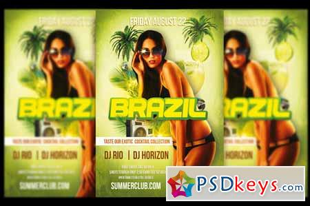 Brazil Night Party Flyer 605937