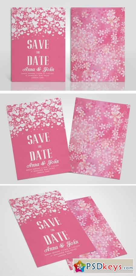 Double Sided Wedding Invitation 581041
