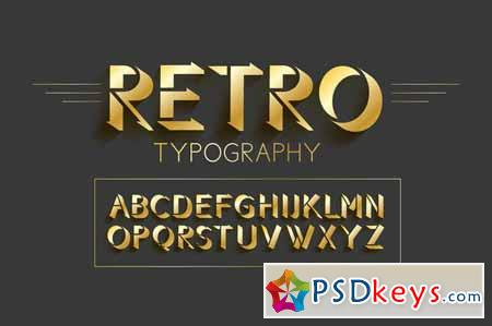Retro typography design 607628