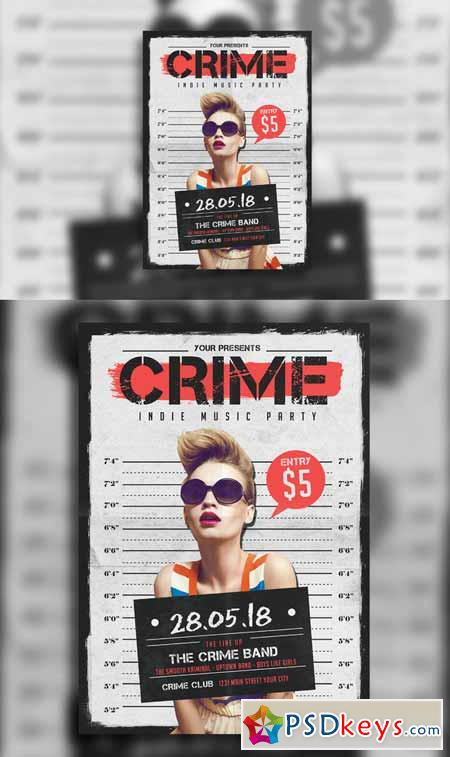 Indie Crime Poster Flyer 611817