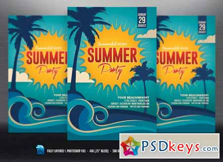 Summer Party Flyer 613147