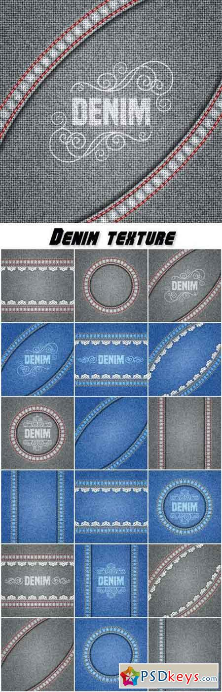 Denim texture, background vector