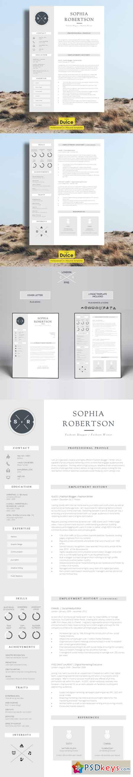 Creative Resume Template Chancery   Free Download Photoshop