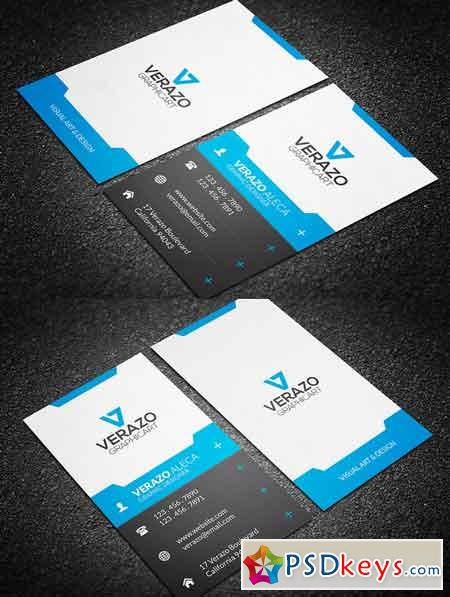 Modern Vertical Business Card Free Download