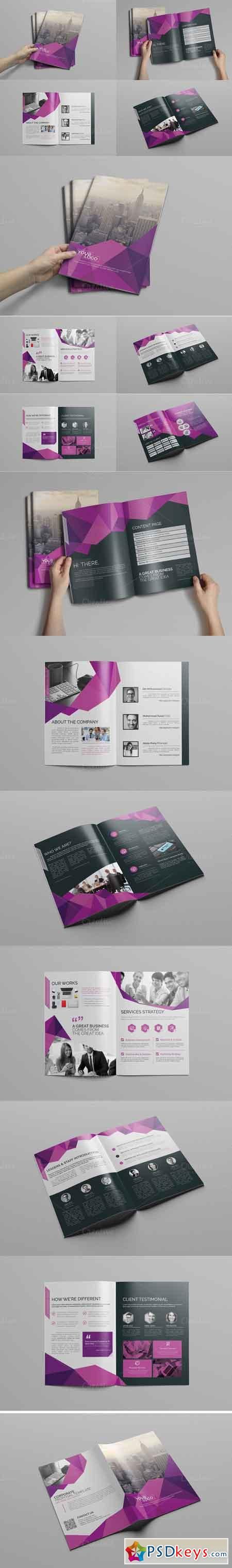 Abstract Bi fold Brochure-16 Pages 609663