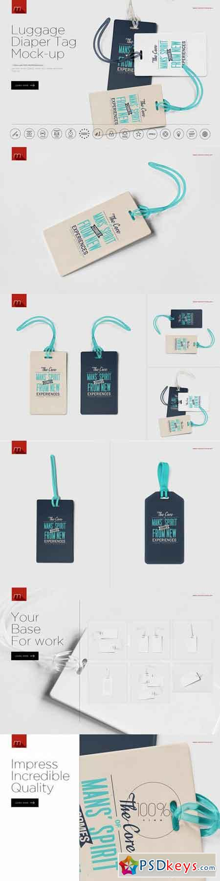Luggage Diaper Tag Mock-up 615332