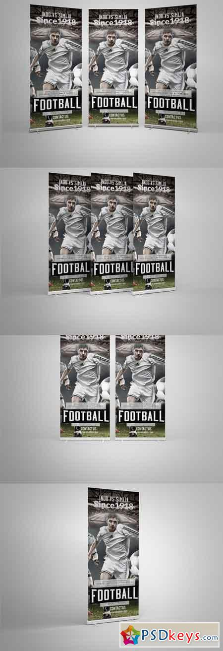 Football Roll Up Banner Template 566090