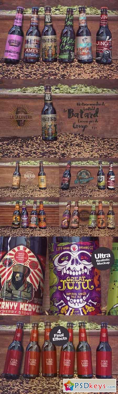 6 in 1 Beer Mockup 617421