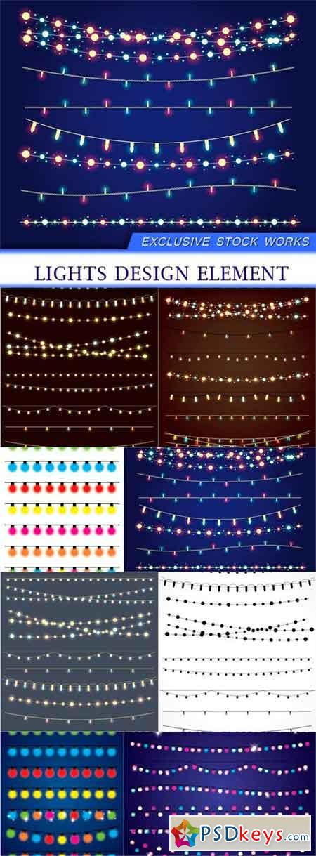 Lights design element 8X EPS