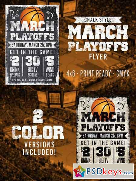 Chalk Basketball Flyer 576909