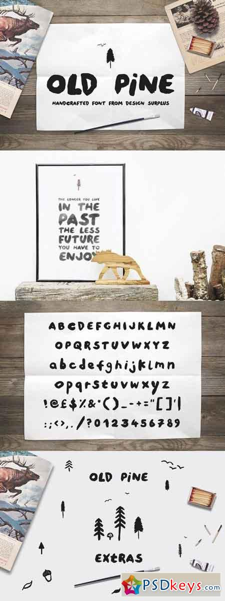 Old Pine Font + Extras 275432