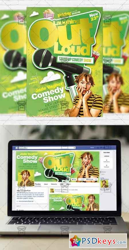 Comedy Show Psd Flyer Template  Facebook Cover  Free Download